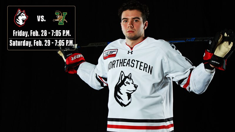 No. 12 Northeastern heads to Vermont for two pivotal games - Northeastern University Athletics