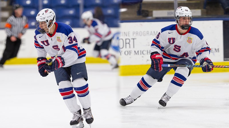 Jack Hughes and Ryan St. Louis Named to 2021 U.S. Under-18 Team - Northeastern University Athletics